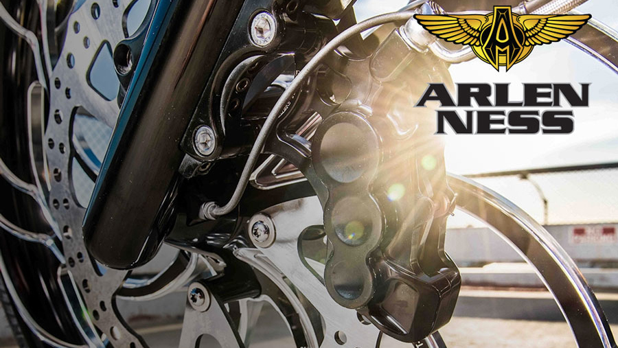 "Arlen Ness 6-Piston Differential Bore Caliper Left Side 11.8/"" Black 02-215"