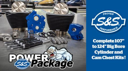 124″ Bolt-In Power Package for M8 Engines from S&S