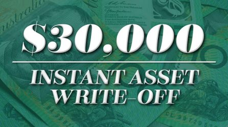 $30,000 Instant Asset Write Off