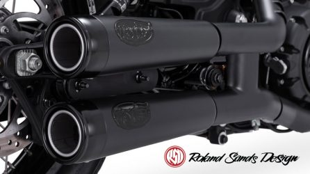 RSD Tracker Slip-On Mufflers for Indian Scout