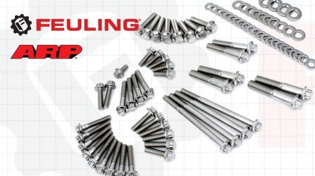 FEULING x ARP M8 Softail Primary & Transmission 12 Point Stainless Fastener Kit