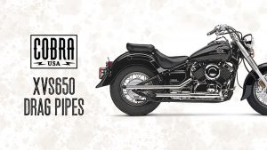 XVS650 Drag Pipes From Cobra USA