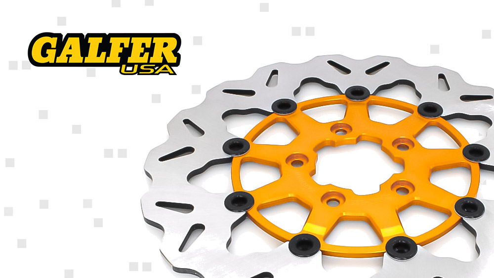 Galfer USA Floating Rotors Now Available With Gold Carriers